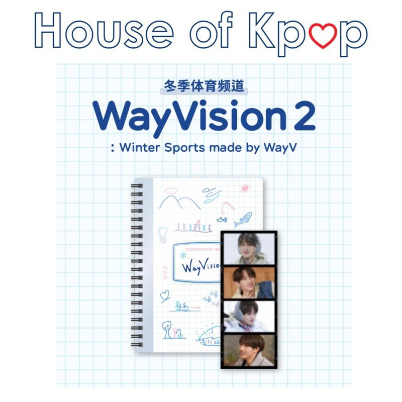 WayV COMMENTARY BOOK + FILM SET - WayVision 2 : Winter Sports made by WayV