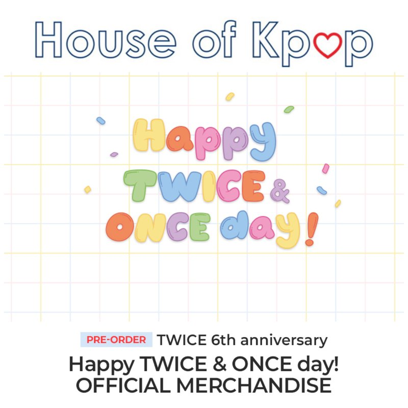 TWICE 6th Anniversary Happy TWICE & ONCE Day Official Merchandise