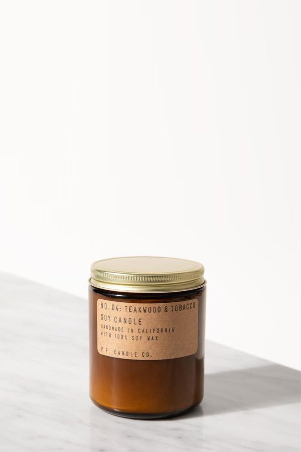 P.F. Candle Co. Teakwood & Tobacco 7.2 Oz Soy Candle