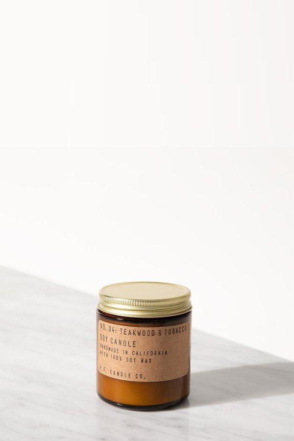 P.F. Candle Co. Teakwood & Tobacco 3.5 Oz Soy Candle