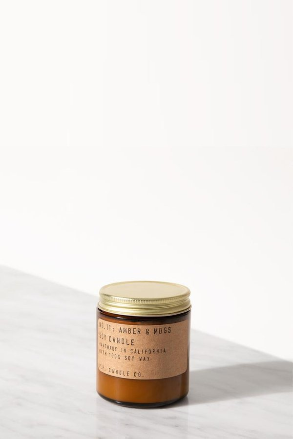 P.F. Candle Co. Amber & Moss 3.5 Oz Soy Candle
