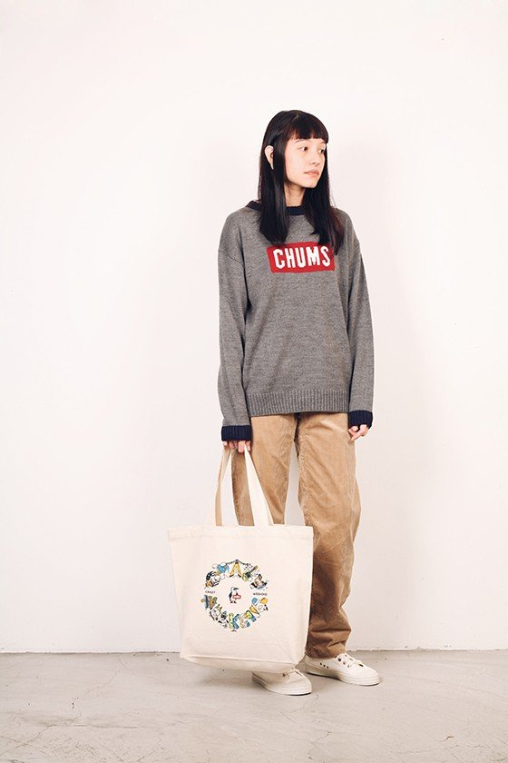 Chums Japan Cyclone Knit Crew Top