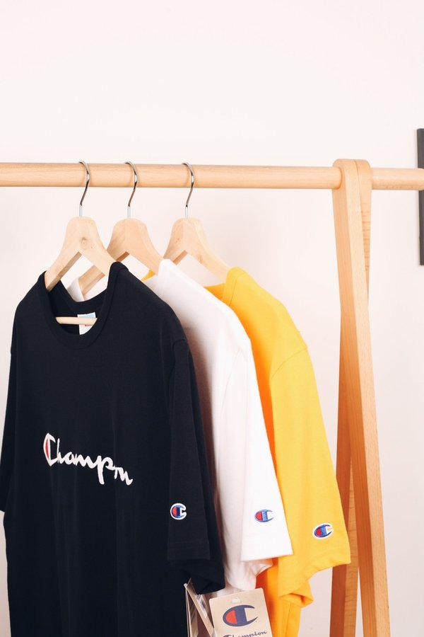 Champion Full Chest Embroidered Script Heritage Tee