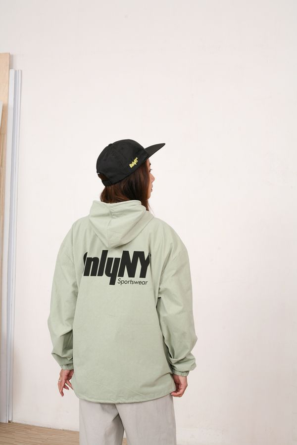 Only NY Court Logo Hooded Windbreaker