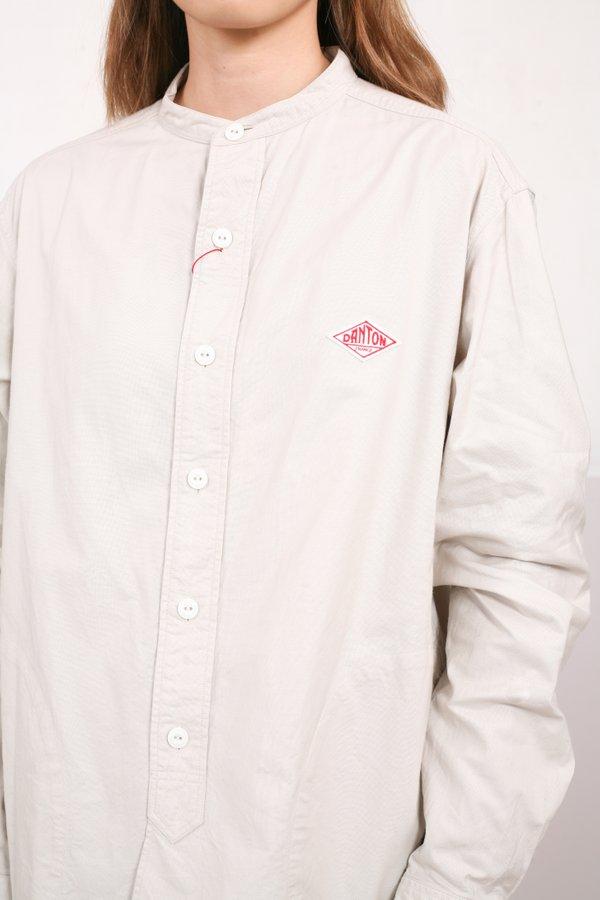 Danton Long Sleeved Band Collar Shirt