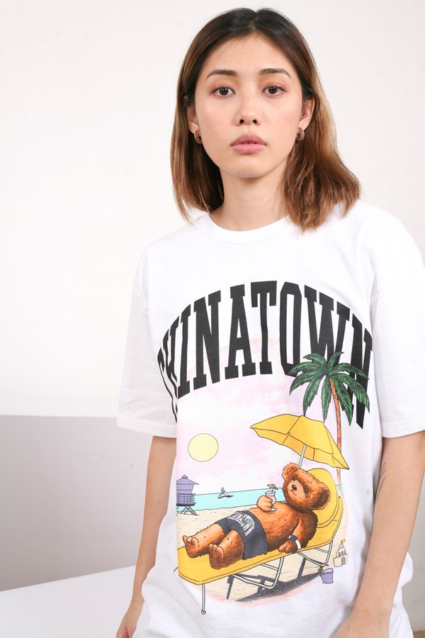 Chinatown Market Smiley Beach Bear Tee
