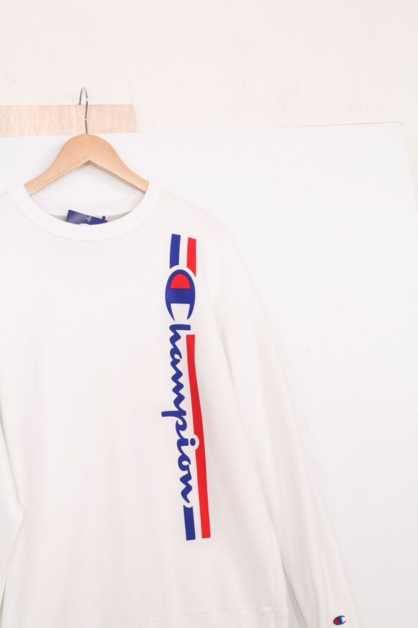 Champion Powerblend Fleece Vertical Logo Crew