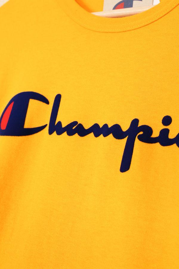 Champion Direct Flock Script Heritage Tee