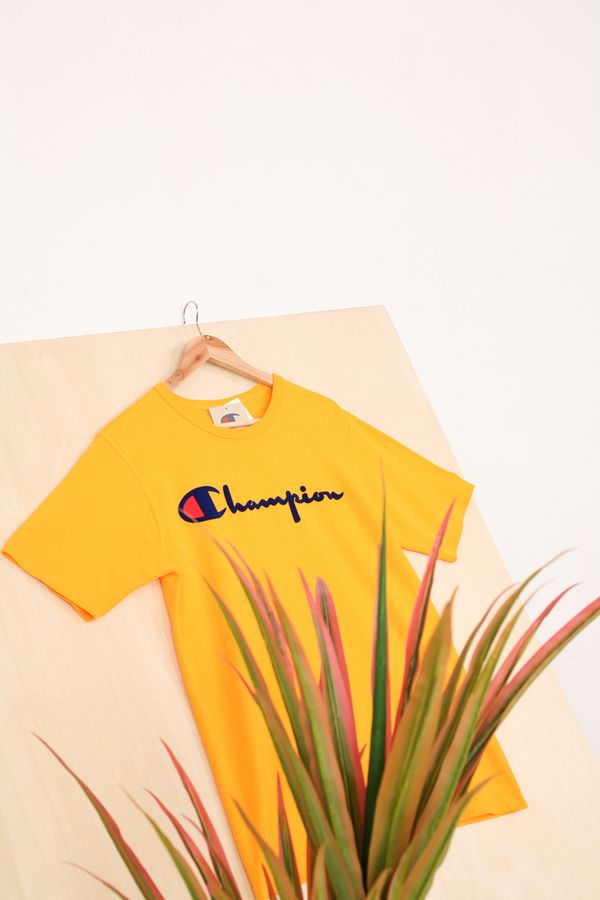 Champion Direct Flock Script Heritage Tee